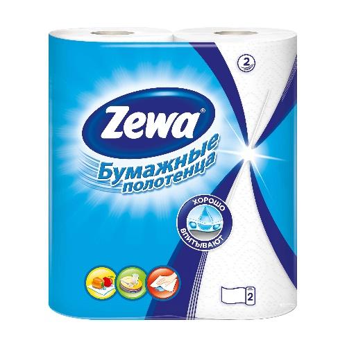 ZEWA Полотенца бумажные 2-сл 2 рулона 56 л (12)