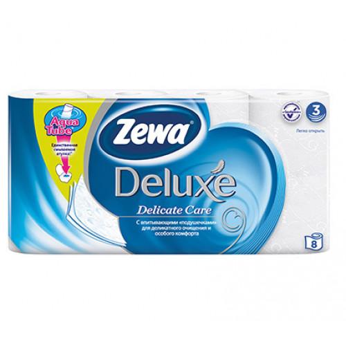 ZEWA Deluxe Туалетная бумага 3-сл 8 рул Белая 20.7м (7)