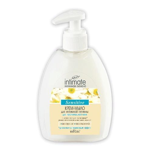 BIELITA БЕЛИТА Крем-мыло для интимной гигиены Sensitive 300 мл (14)